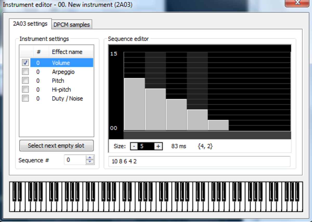 Editing an Instrument