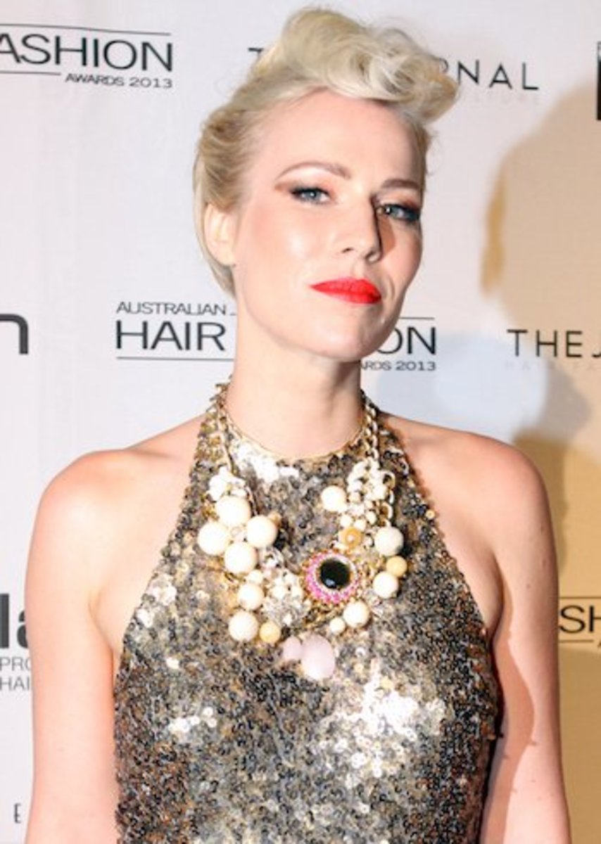 Natasha Bedingfield Attends the 2013 Australian Hair Fashion Awards.