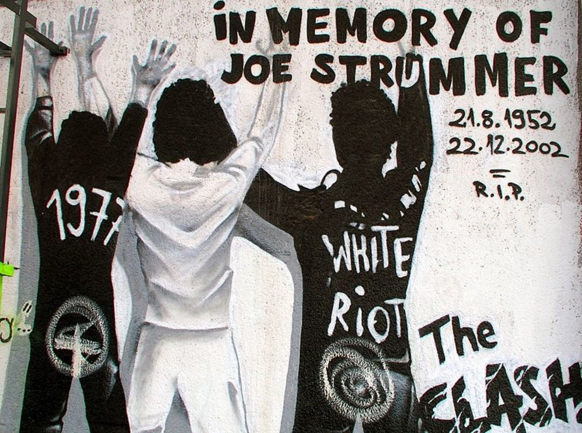 Graffiti art commemorating Joe Stummer of The Clash.