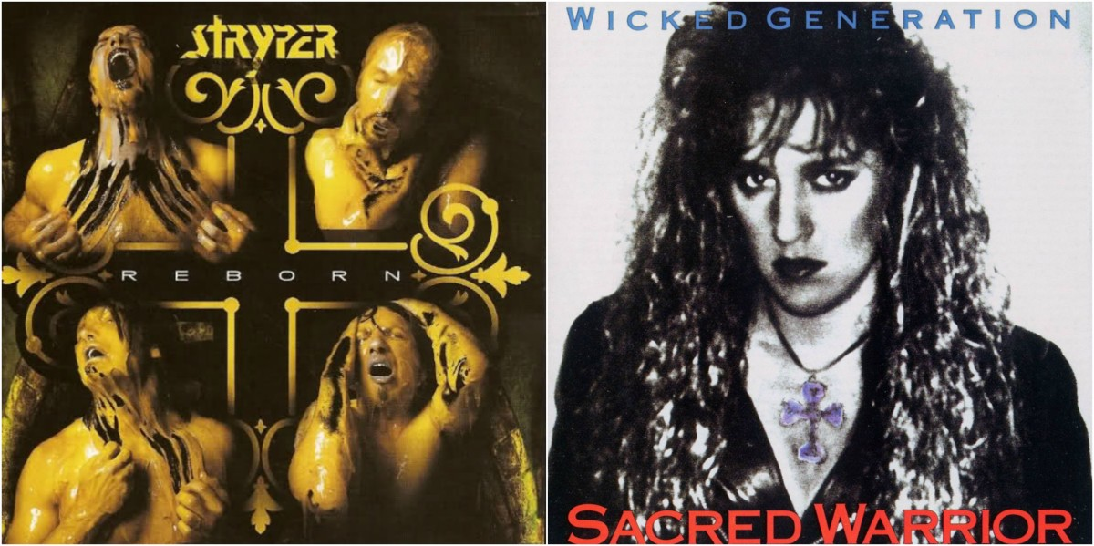 "Left: Stryper, ""Reborn"" Right: Sacred Warrior, ""Wicked Generation"""
