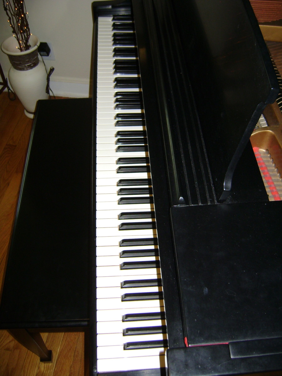 A full keyboard in top condition.