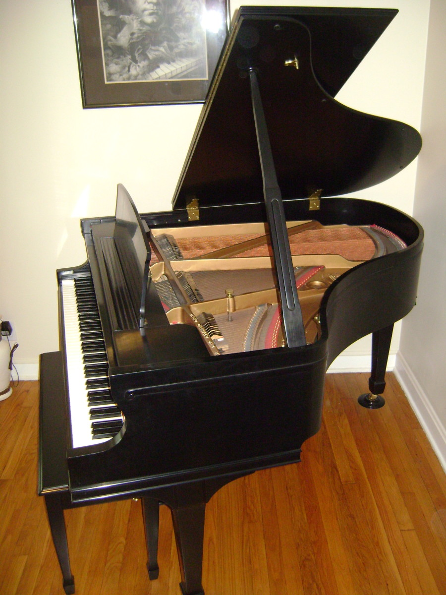 Avoid placing food or drinks on the piano. Cover the keyboard when not in use.