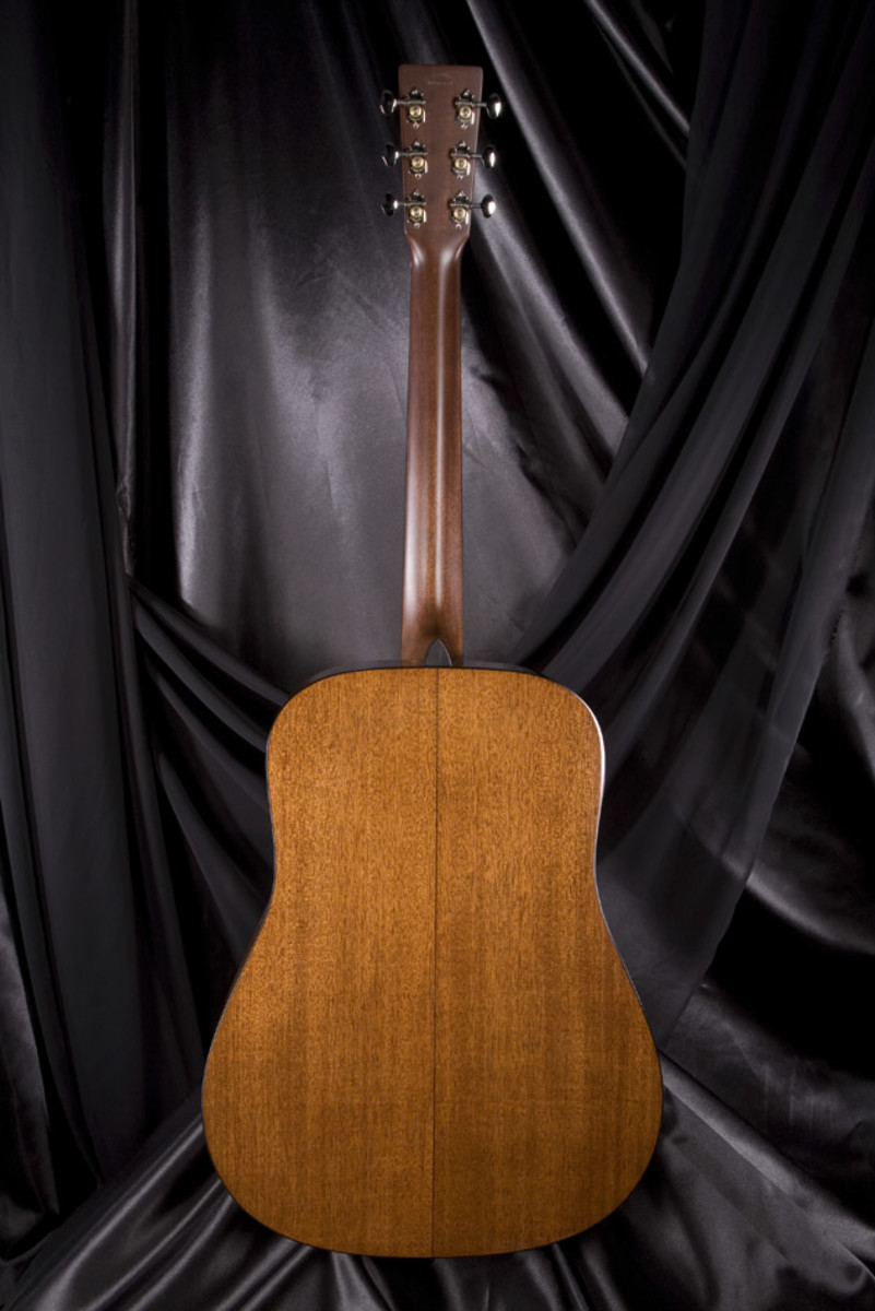 Mahogany, simple, beautiful, and producing a crisp, clean, bright, and loud tonal response.