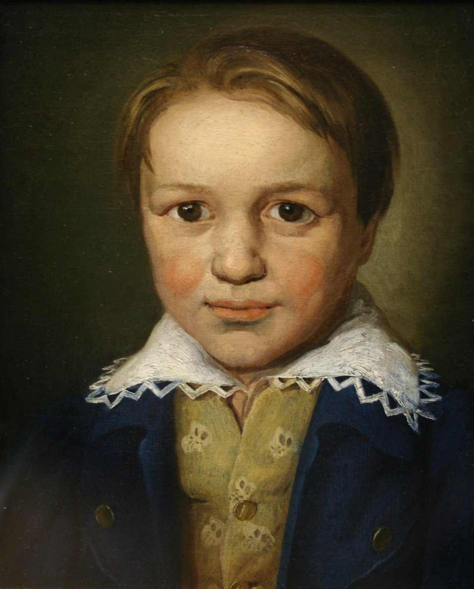 Early childhood painting of Beethoven
