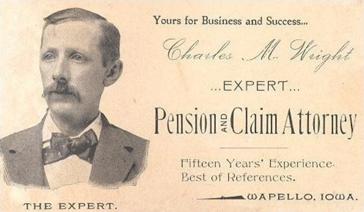 An attorney's business card, 1895