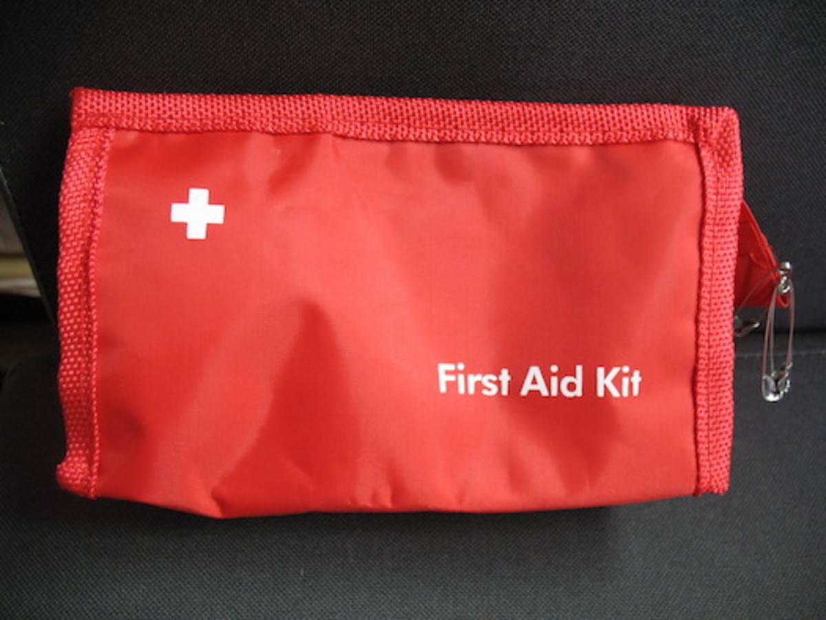 A small first aid kit.