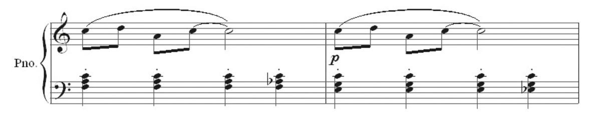 Ragtime bars 9 and 10