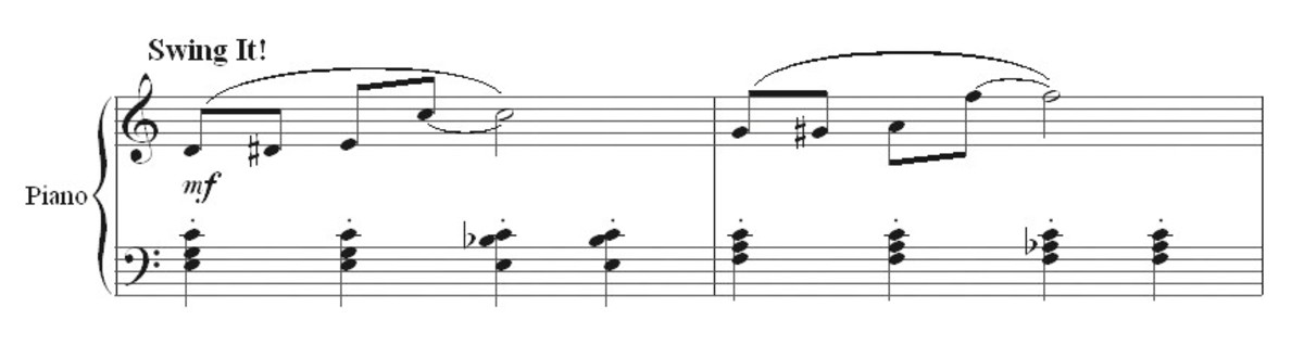 Ragtime bars 1 and 2