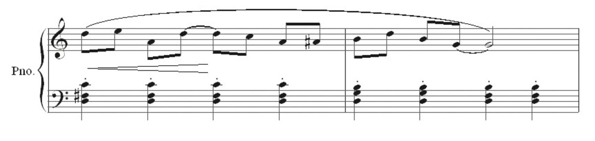 Ragtime bars 11 and 12