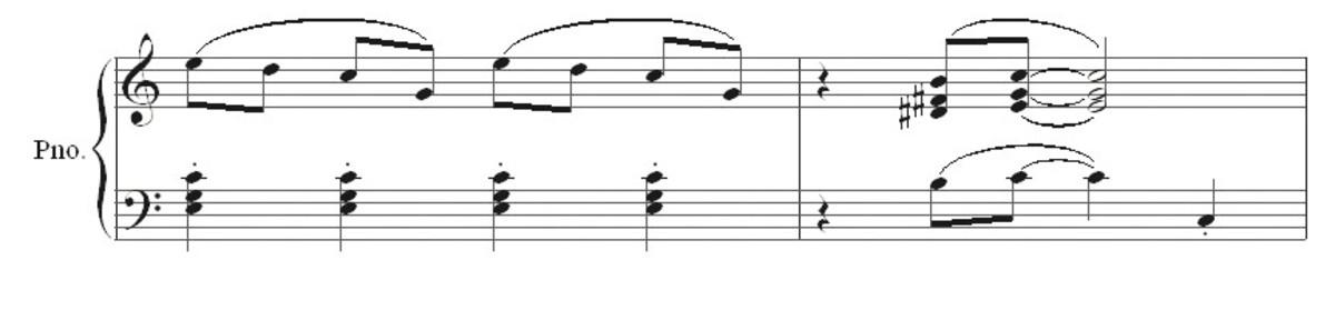 Ragtime bars 7 and 8