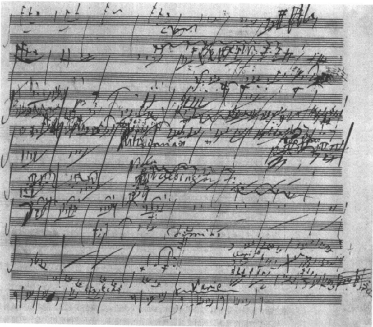 Original score to Beethoven's 6th Symphony