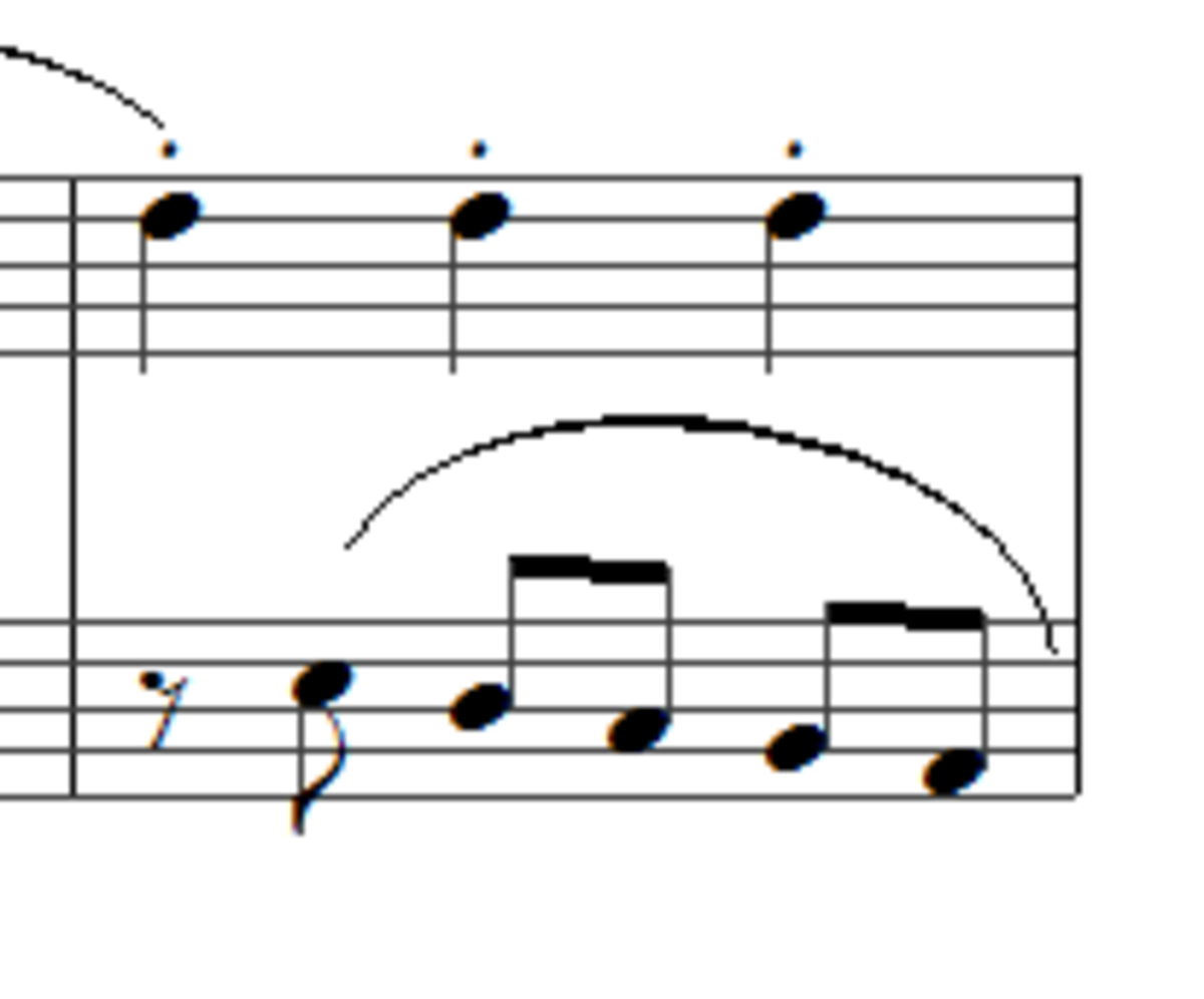Bar 56 with eighth note rests in the left hand