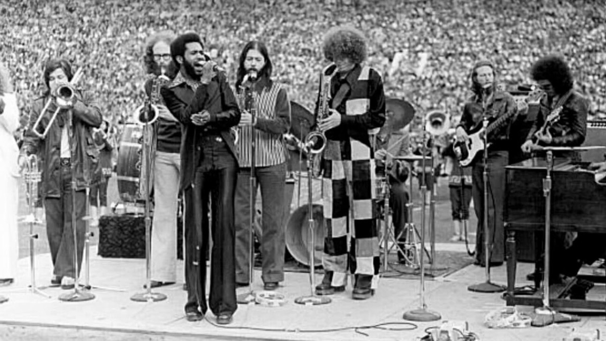 Tower of Power in 1977 (singer Lenny Williams at front)