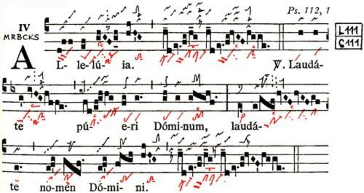 The Alleluia Laudate pueri of the Gradual Triplex, the revised Roman Rite for mass.
