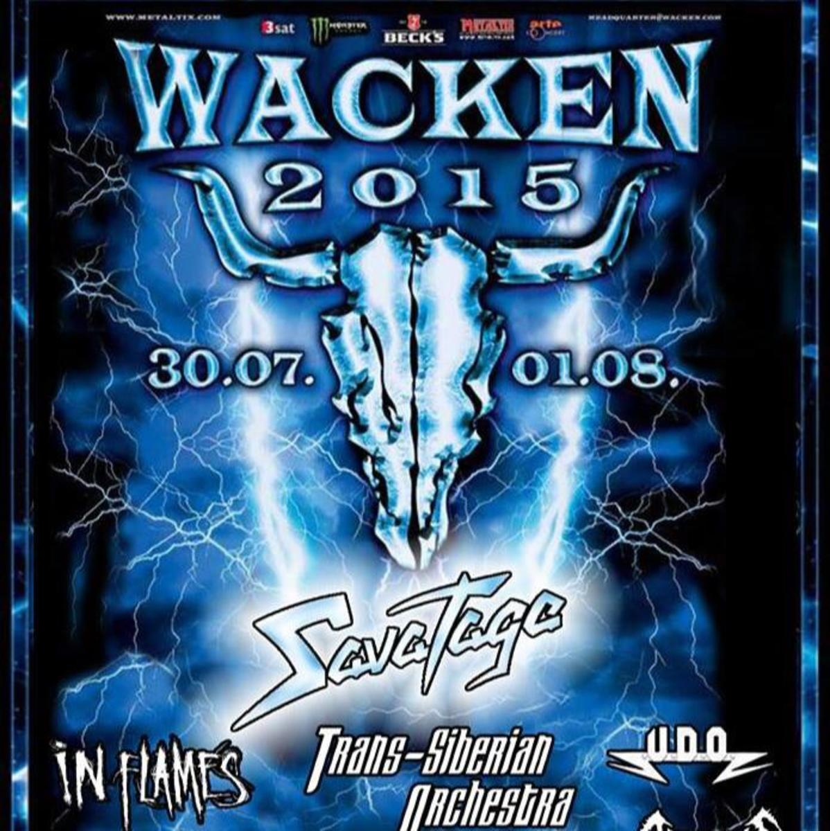 Promotional image for the 2015 Wacken festival