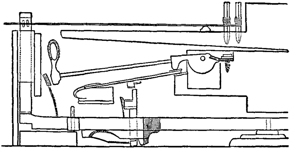 """Cristofori's famous """"escapement"""" action, which helped put the """"forte"""" into the pianoforte"""