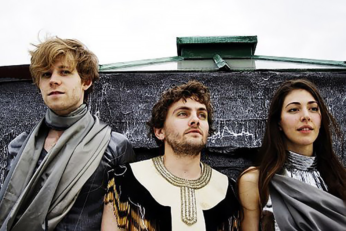 Aaron Pfenning, Patrick Wimberly, and Caroline Polachek of Chairlift