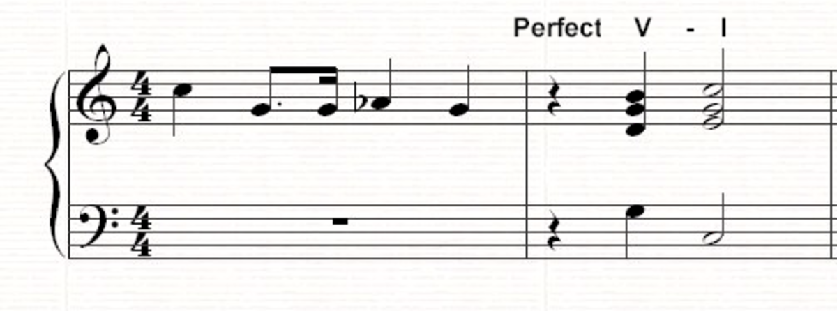 A perfect V-I cadence
