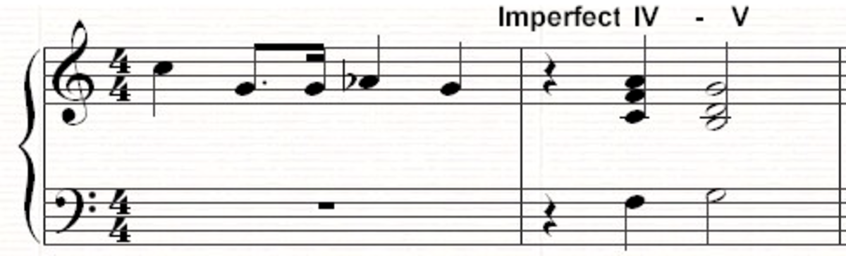 A IV-V imperfect cadence