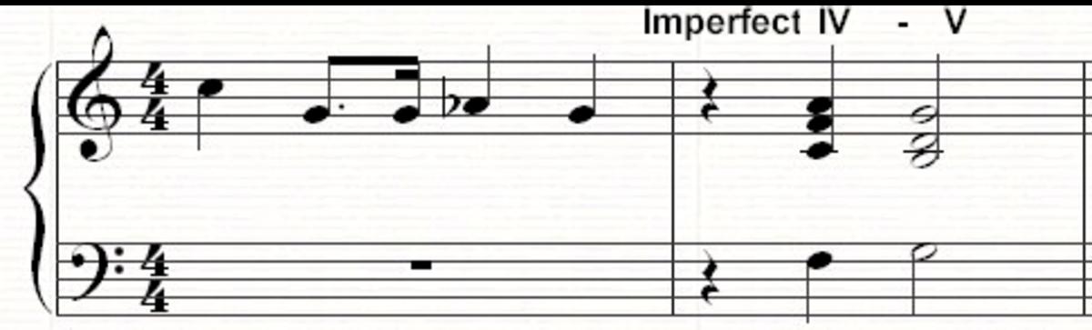A IV-V imperfect cadence