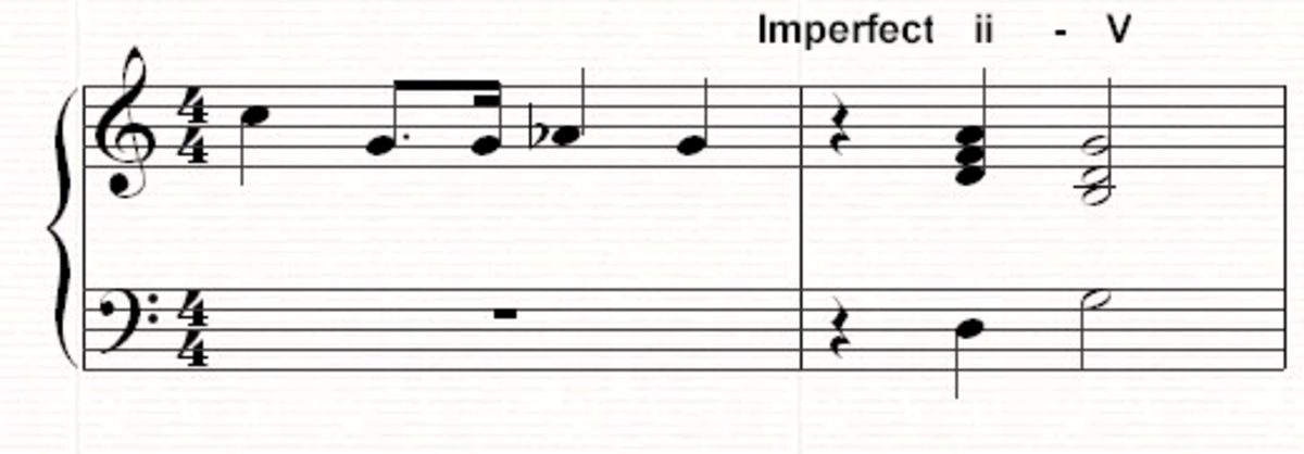 A ii-V imperfect cadence
