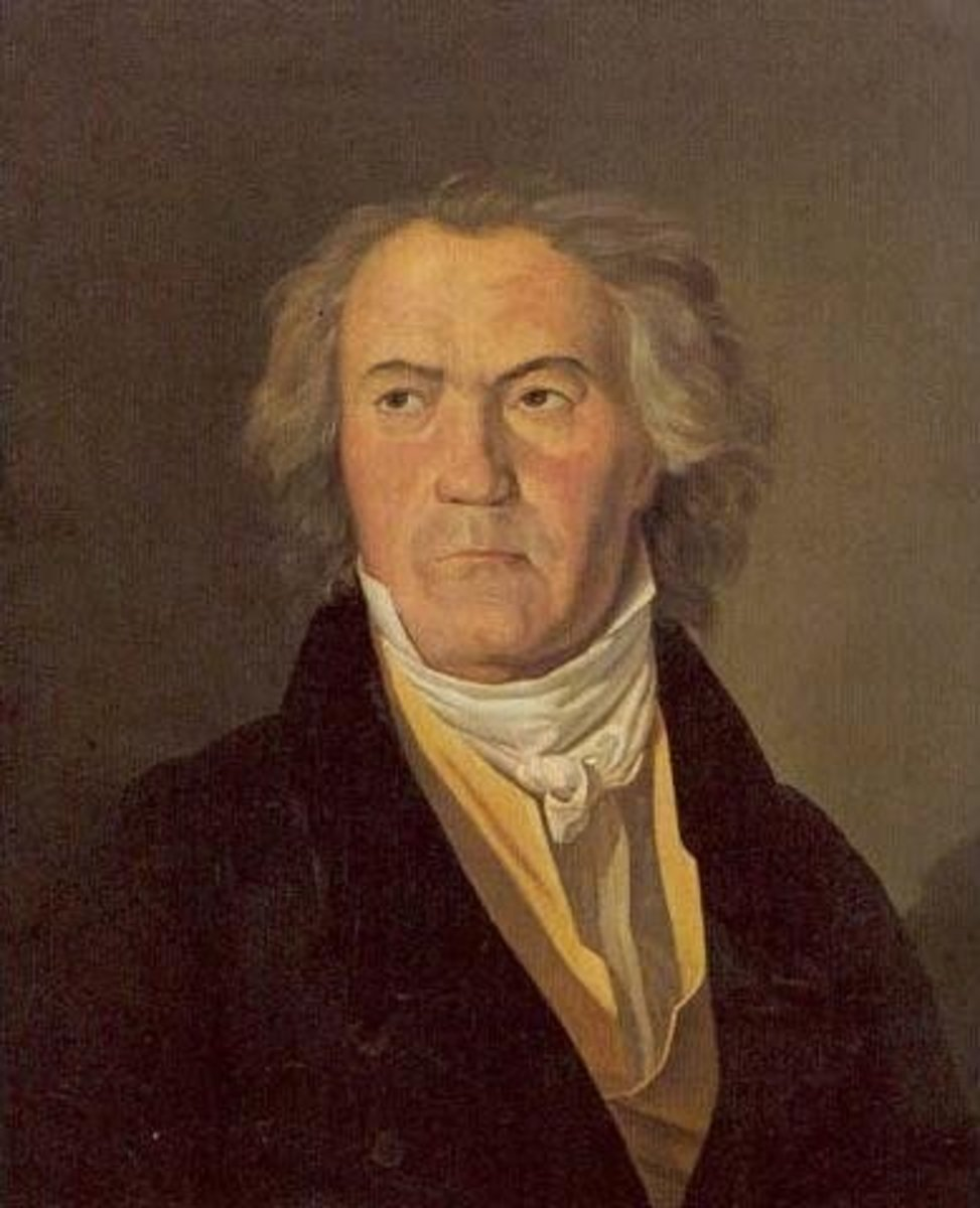 Painting of Beethoven around 1823.