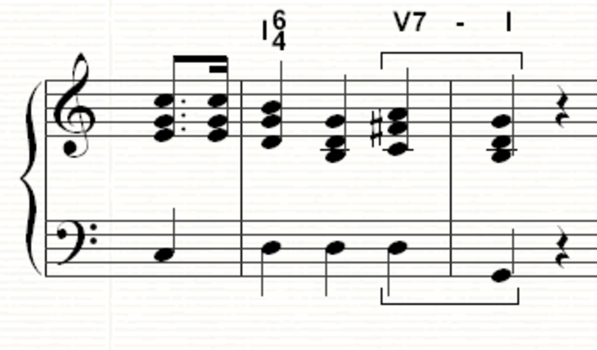 The final section of the song using a 6/4 chord to lead into the cadence smoothly