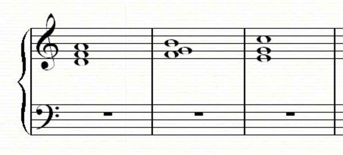 A 2-57-1 chord progression in C major