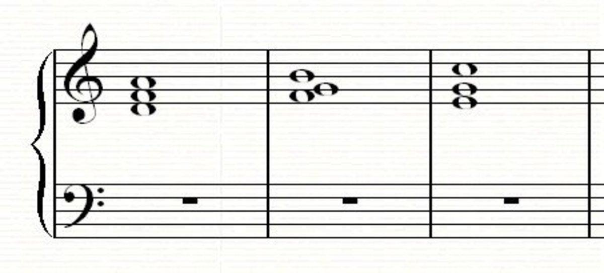 A 2-57-1 chord progression in C major