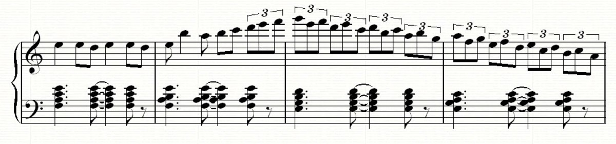 ... which still fits in with the same chord progression