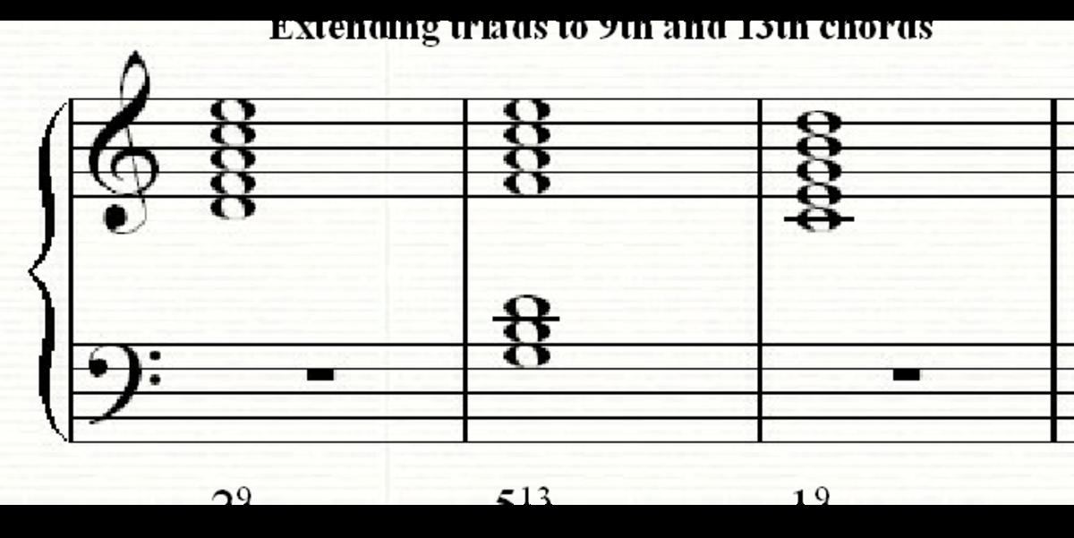 Changing basic chords into jazz chords