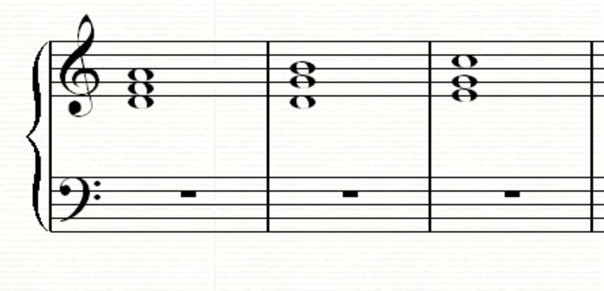 A 2-5-1 chord progression in C major