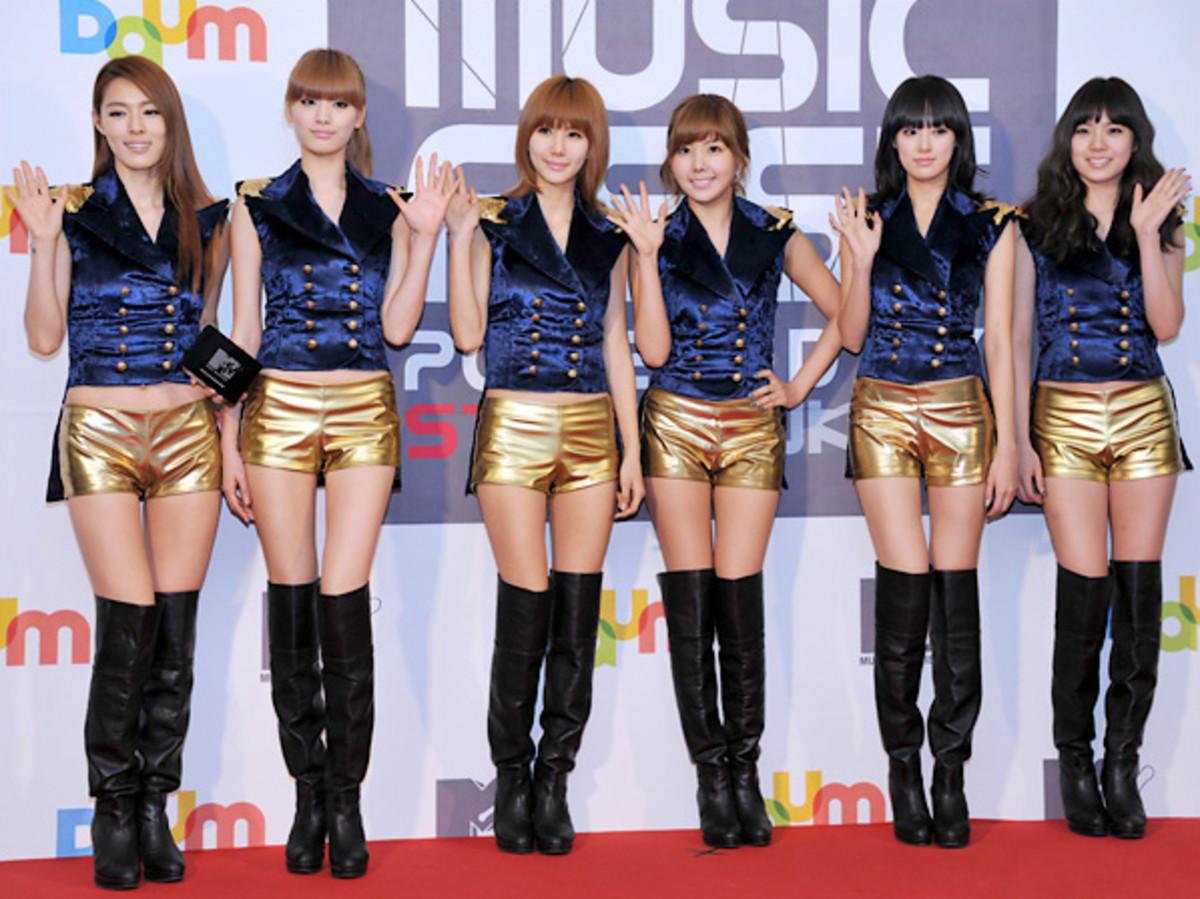 6 members of After School.