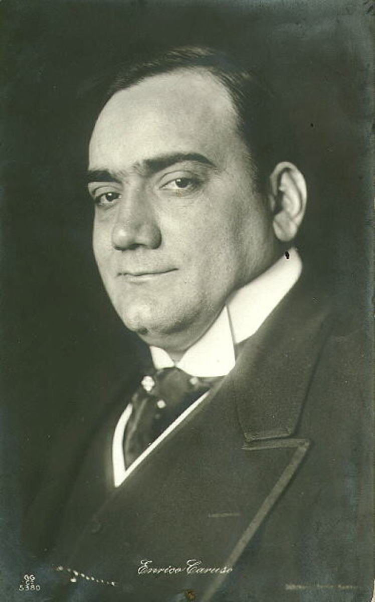 Born to become the greatest tenor of all time.  Enrico Caruso, February 25, 1873 —August 2, 1921.