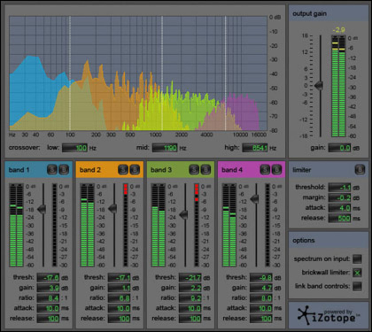 Multi-band compressor will put the finish touches and polish on your overall mix