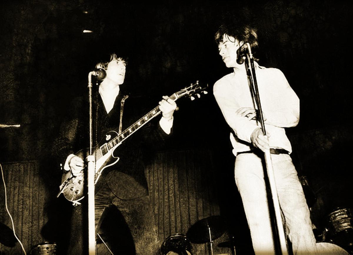 The Stones in concert.
