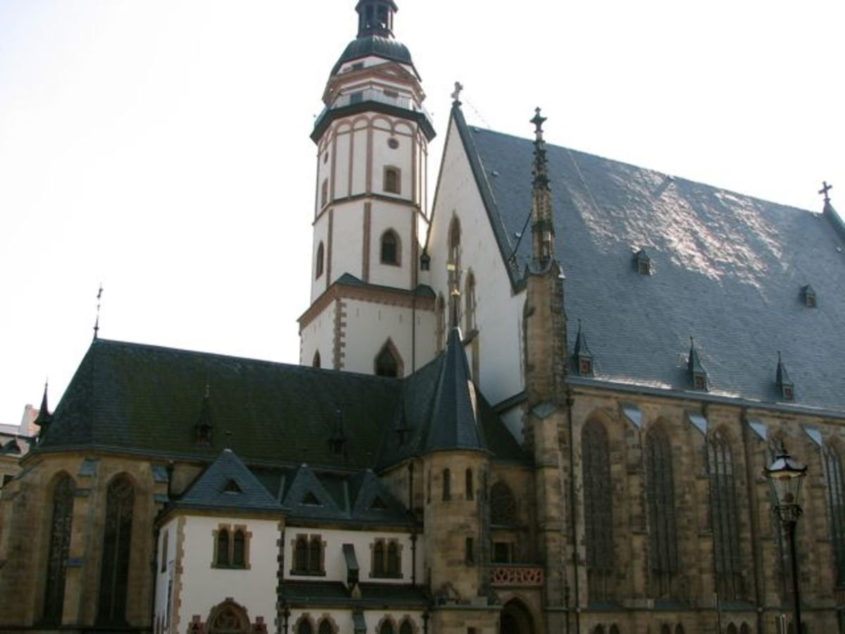 St Thomas church in Leipzig.