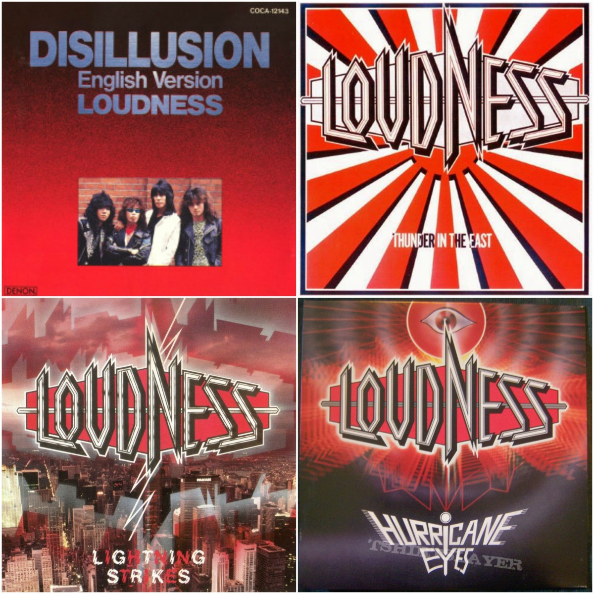 Disillusion (1984), Thunder In The East (1985), Lightning Strikes (1986), Hurricane Eyes (1987)