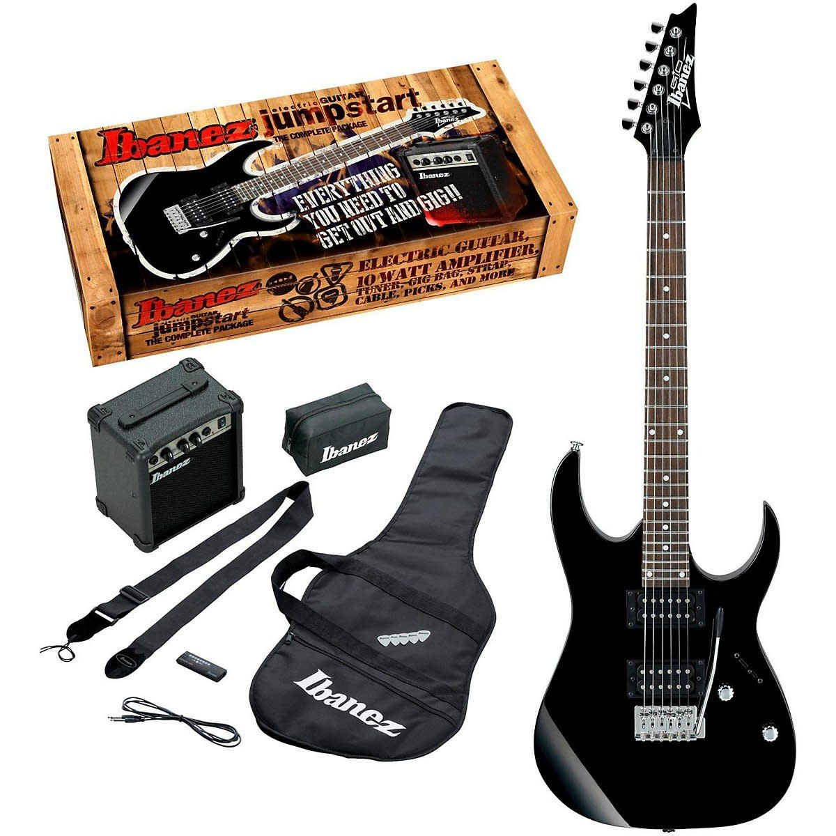 In addition to an awesome starter guitar, Ibanez gives you all the accessories you need to begin your playing career.