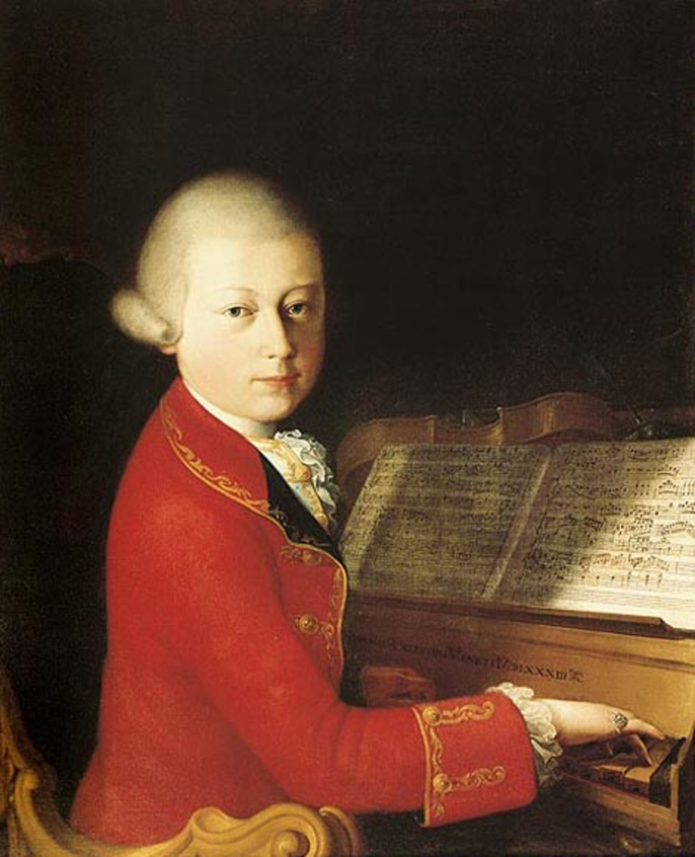 Mozart at the piano in Verona, aged 14