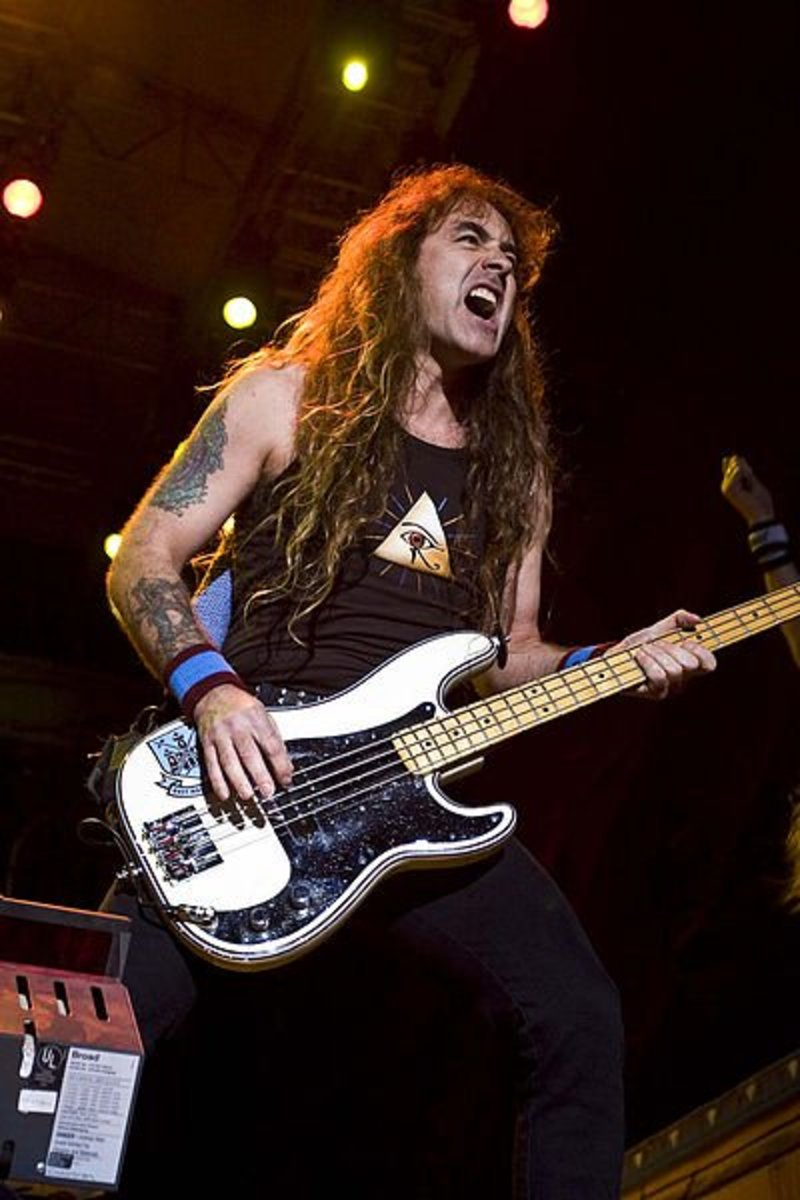Steve Harris of Iron Maiden is a bassist with tremendous skills both on his instrument and as a songwriter.
