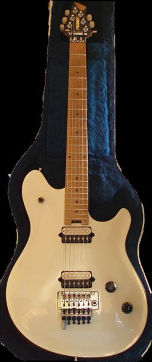 Eddie went on align with Peavey to create this signature Wolfgang model. Today he markets his own gear, including guitars and amps, under the EVH brand name.