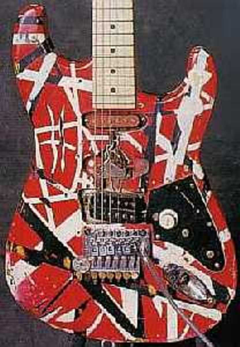 Eddie's Historic Frankenstrat Guitar