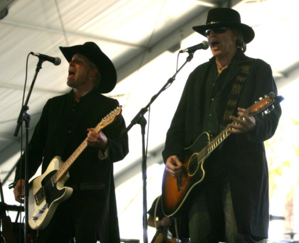 Members of The Unforgiven perform at the 2012 Stagecoach Festival in California for a one-off reunion of the band.
