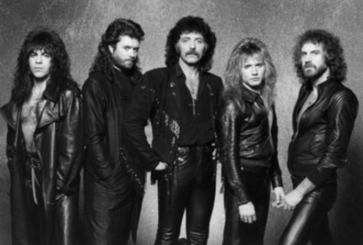"""Seventh Star"" band lineup L-R: Dave Spitz, Glenn Hughes, Tony Iommi, Eric Singer, Geoff Nichols"