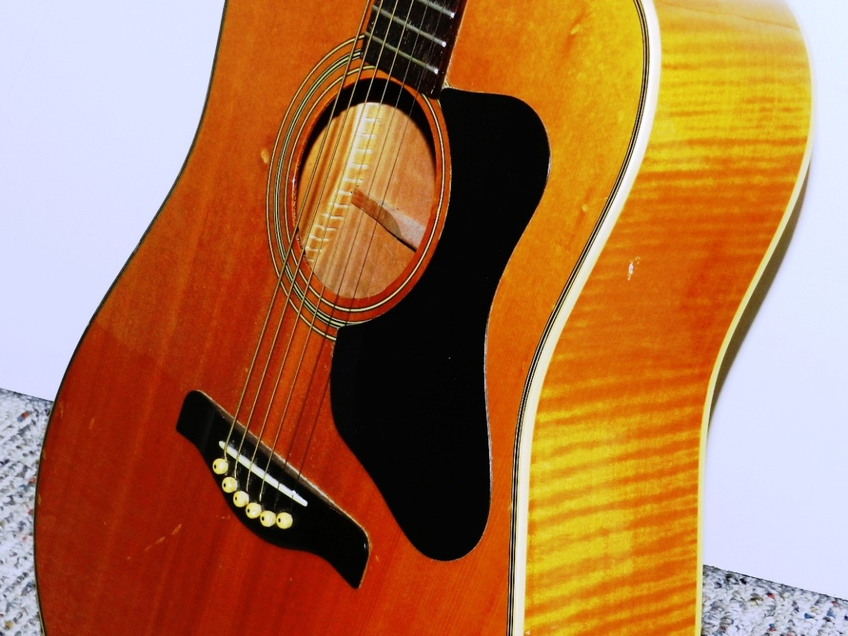 Leaning your acoustic guitar against a wall is asking for trouble. Use a guitar stand!