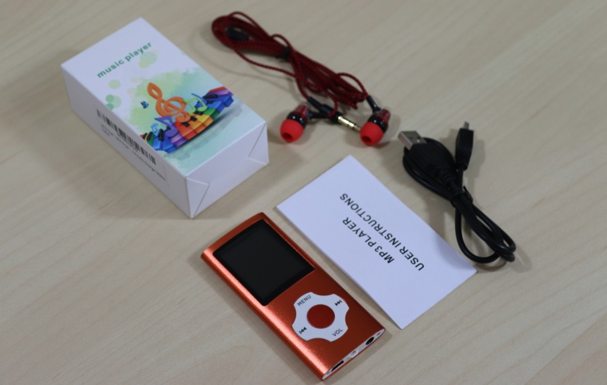 The Hotechs MP3 player is cheap, has good audio, and comes in 13 different colors.