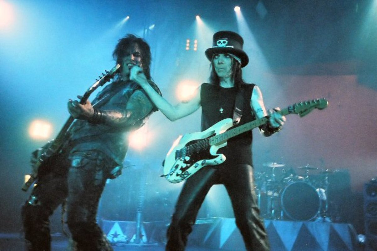 Bassist Nikki Sixx and Guitarist Mick Mars