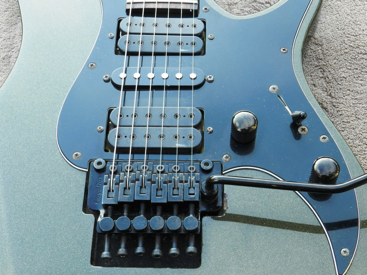 Over the years I've replaced the Floyd Rose and the control knobs.
