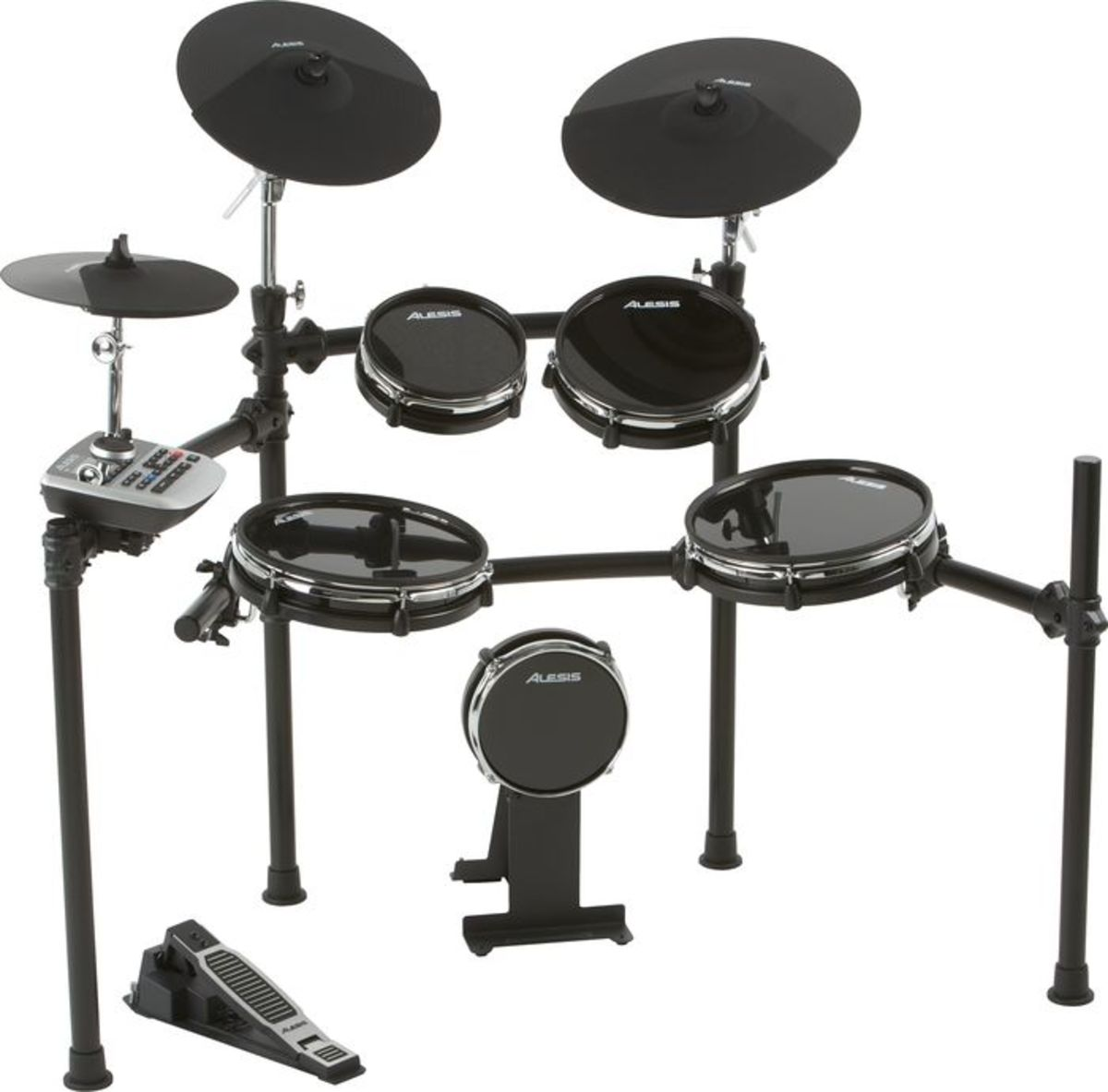 Alesis DM6 Nitro eight-piece compact beginner electronic drum set.